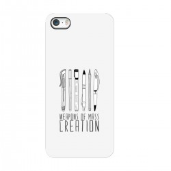 "Чехол для Apple iPhone с принтом ""Weapons of mass creation"""