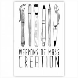 """Холст с принтом """"Weapons of mass creation"""" (30x40 cм)"""