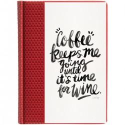 """Ежедневник с принтом """"Coffee keeps me"""""""