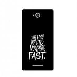 "Чехол для Sony с принтом ""The easy way to nowhere FAST"""