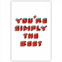 "Холст с принтом ""You are simply the best"" (20x30cм)"