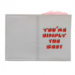 "Обложка на паспорт с принтом ""You are simply the best"""