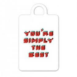 """Брелок с принтом """"You are simply the best"""""""