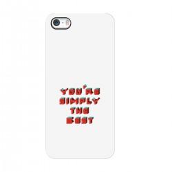 "Чехол для Apple iPhone с принтом ""You are simply the best"""