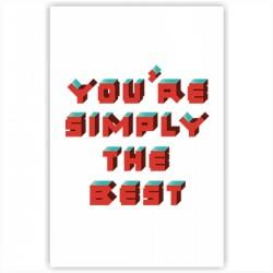 "Холст с принтом ""You are simply the best"" (30x40 cм)"
