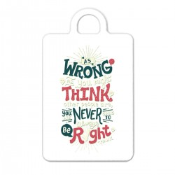 """Брелок с принтом """"As wrong as you might think other people are you """""""