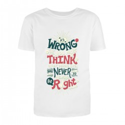 """Футболка с принтом """"As wrong as you might think other people are you """""""