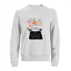 """Свитшот с принтом """"Пишущая машинка"""""""