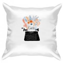 """Подушка с принтом """"Пишущая машинка"""""""