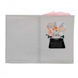 """Обложка на паспорт с принтом """"Пишущая машинка"""""""