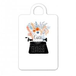 """Брелок с принтом """"Пишущая машинка"""""""