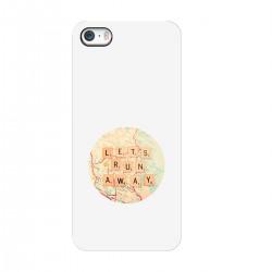 """Чехол для Apple iPhone с принтом """"Lets run away"""""""