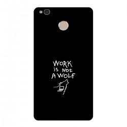 """Чехол для Xiaomi с принтом """"Work is not a wolf-2"""""""