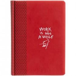 """Ежедневник с принтом """"Work is not a wolf-2"""""""