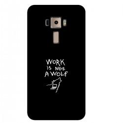 """Чехол для Asus с принтом """"Work is not a wolf-2"""""""
