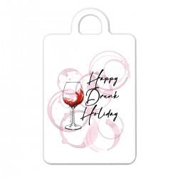 "Брелок с принтом ""Happy Drunk Holiday - black"""