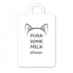 """Брелок с принтом """"Purr some milk please - black"""""""