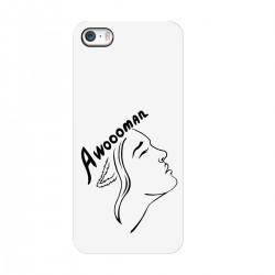 "Чехол для Apple iPhone с принтом ""Awoooman - black"""