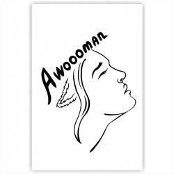"Холст с принтом ""Awoooman - black"" (30x40 cм)"