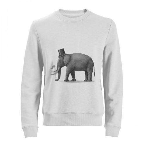 """Свитшот с принтом """"Слон"""""""